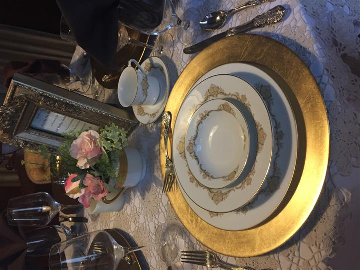 Fine China plate set up