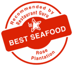 Recommended by restaurant guru - best seafood - Rose Plantation
