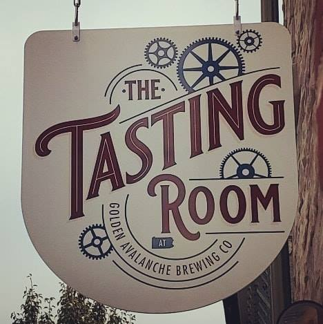 The Tasting Room Golden Avalanche Brewing Company sign
