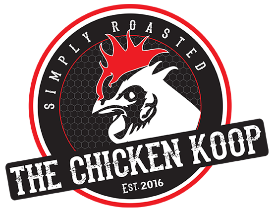 The Chicken Koop. Established 2016.  Simply roasted.