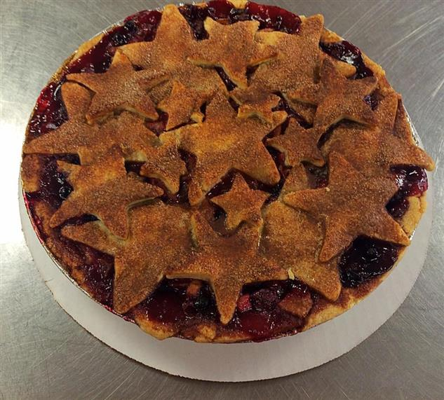 cherry pie with star crust