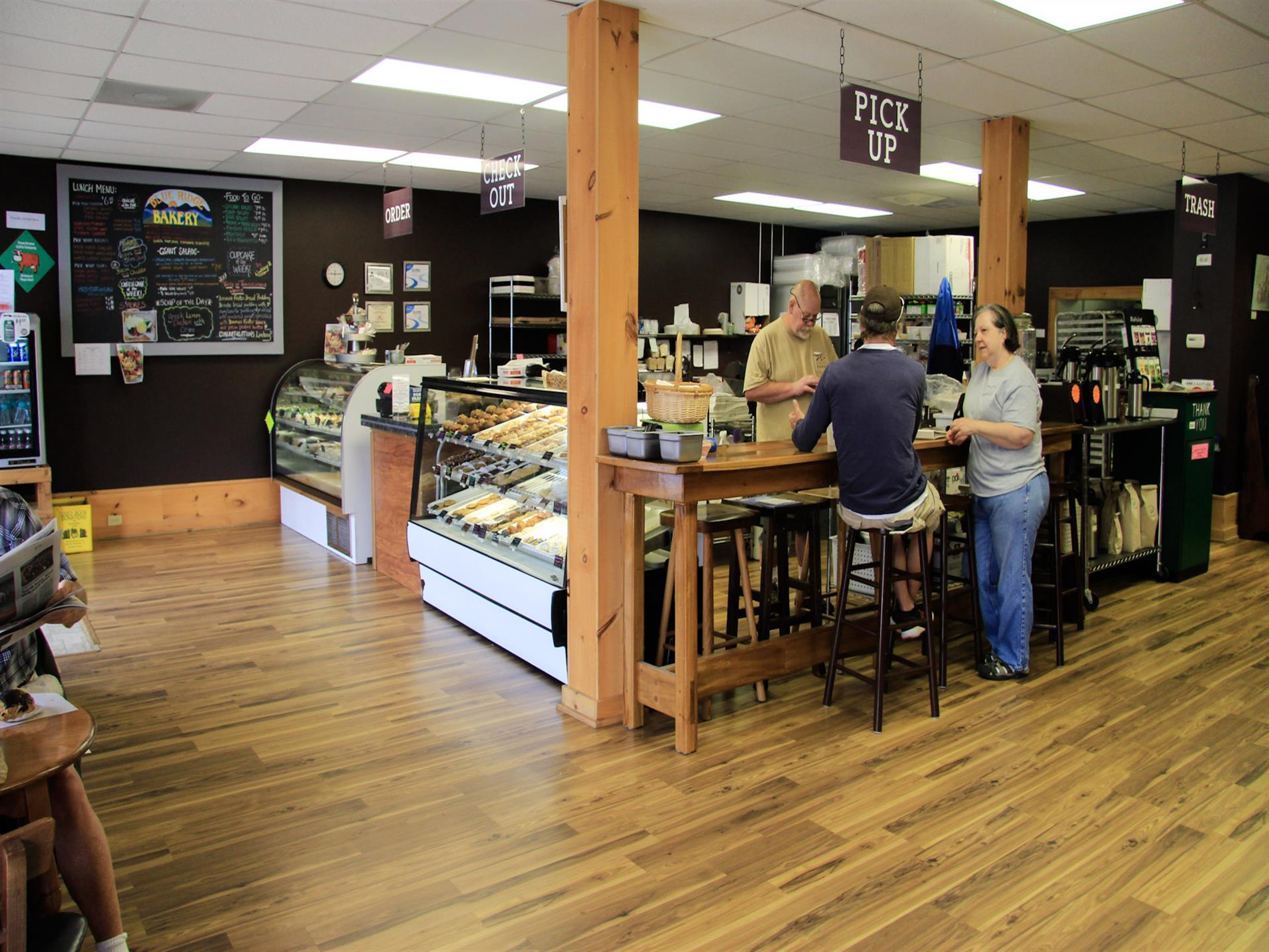 interior shot of bakery