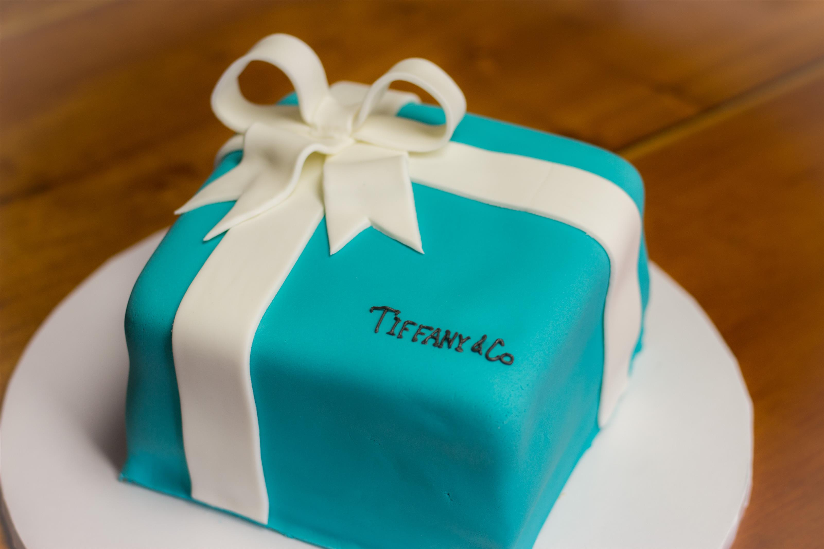 Teal Tiffany Co Cake