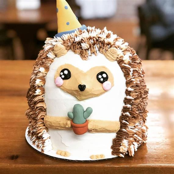 hedgehog shaped cake
