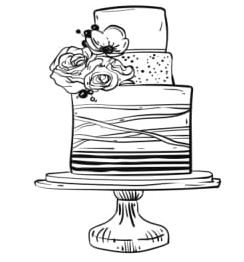cake drawing icon