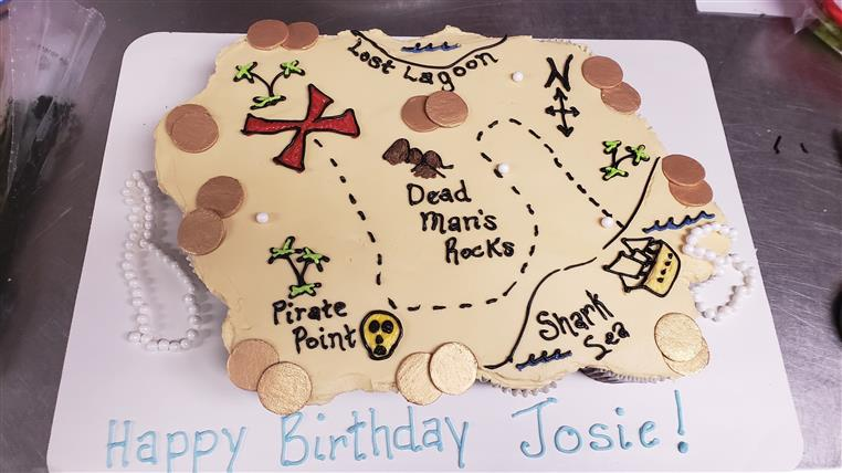 treasure map cake