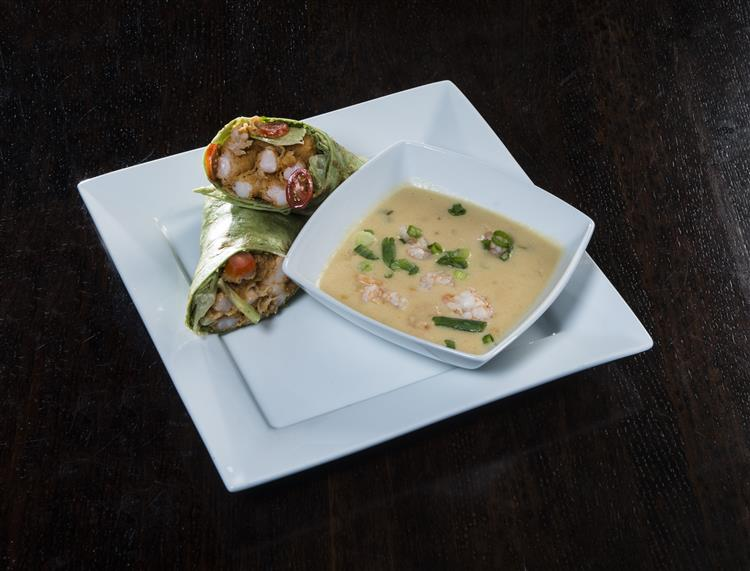 chicken wraps with soup