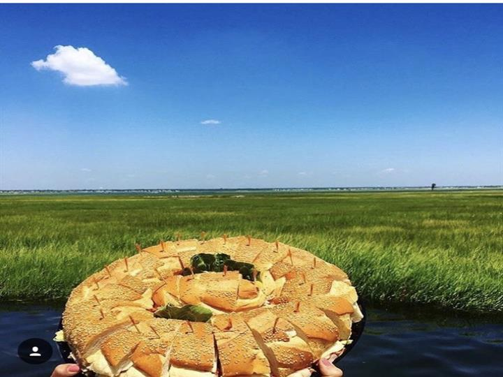 Bread slices on a platter with plains in the backgrounds