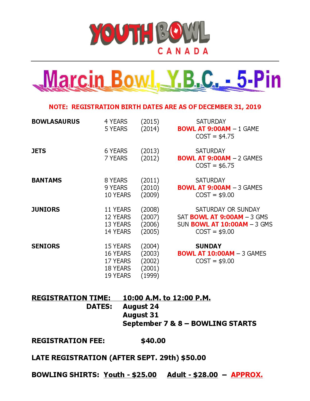 Bowling Registration