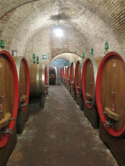 big barrels of wine