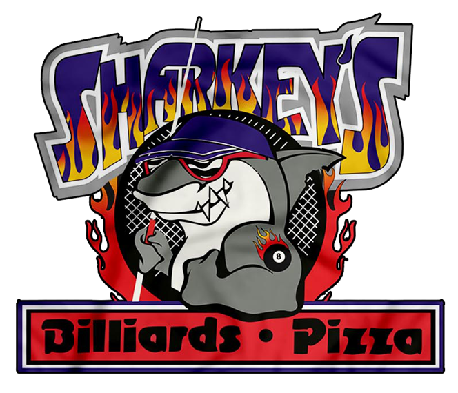 Sharkeys. Billiards. Pizza.