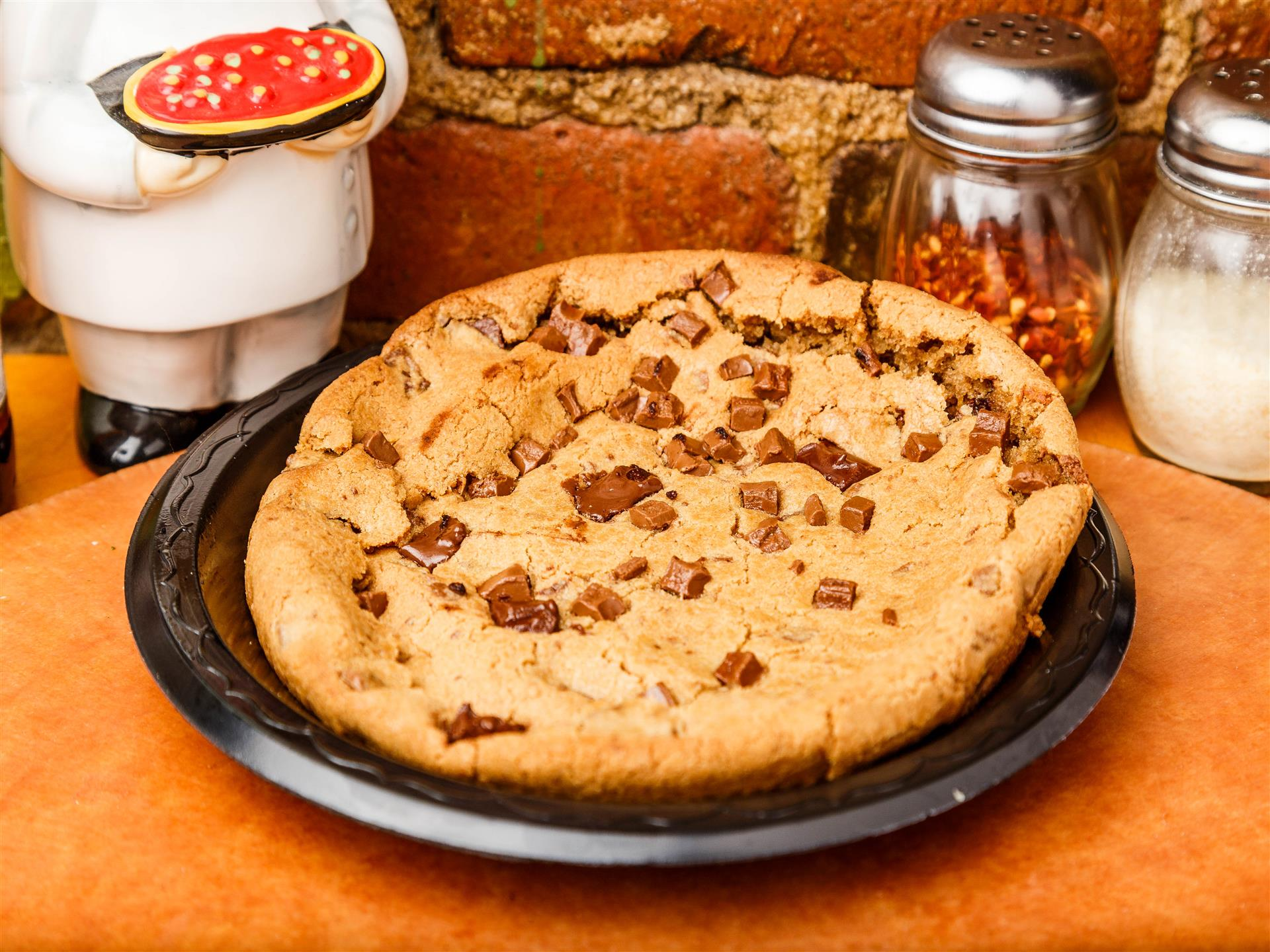 huge chocolate chip cookie