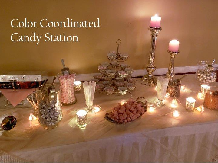 Pink/Silver Candy Table