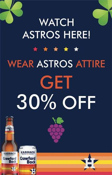 astros 30% off deal