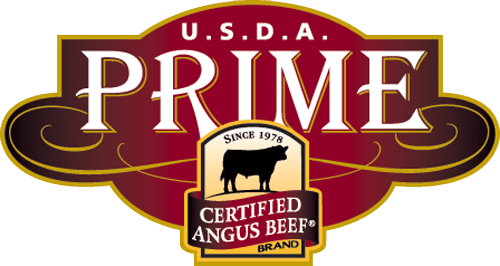 U S D A Prime. Since 1978. Certified angus beef brand.