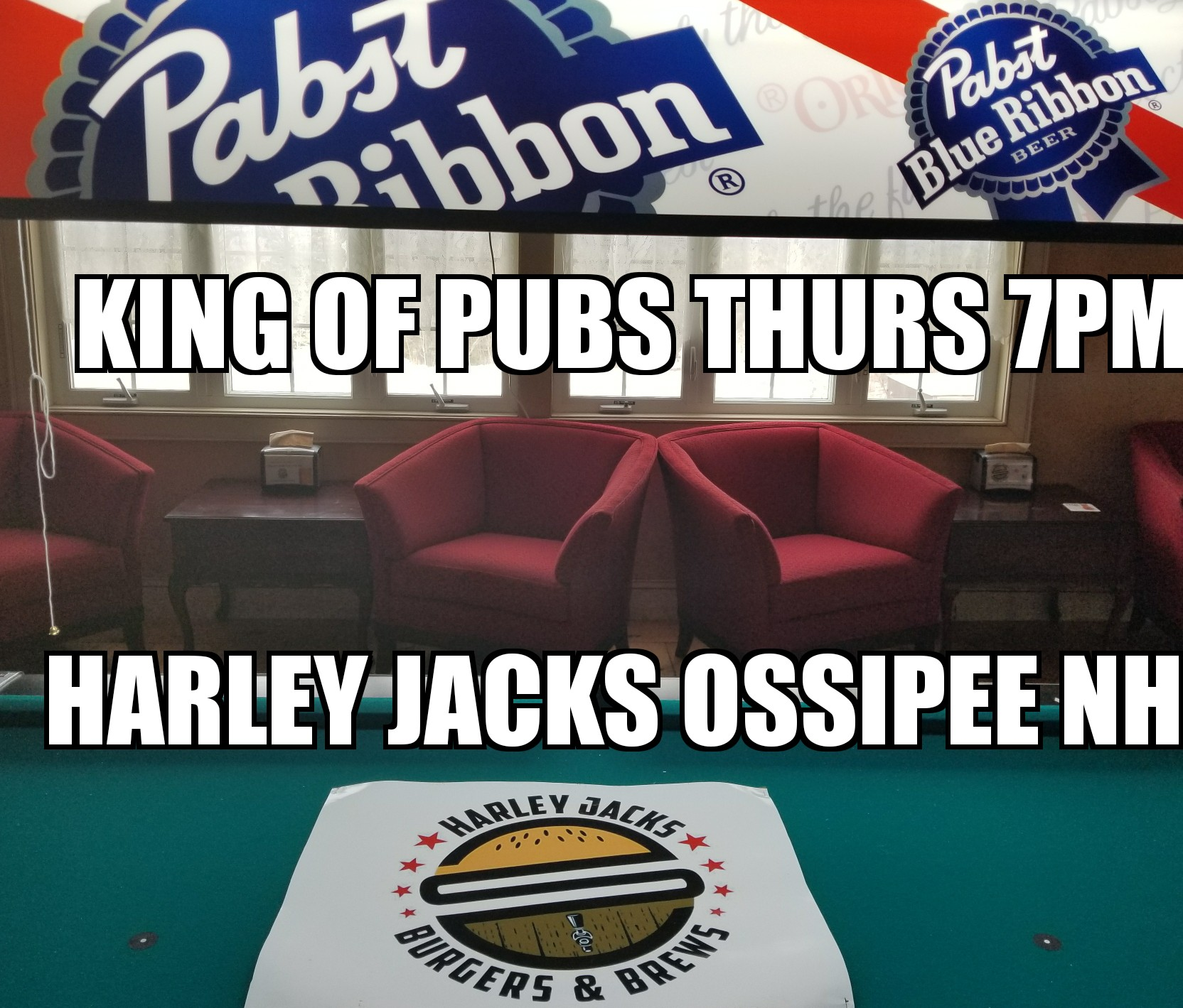 king of pubs thurs 7pm harley jacks ossipee nh
