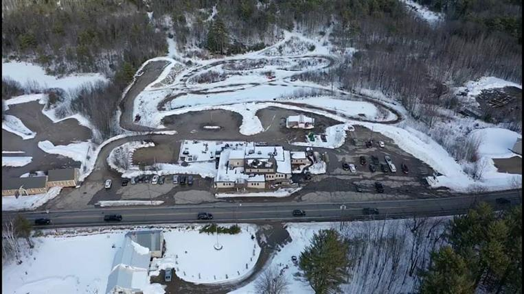 overhead view of snowy area