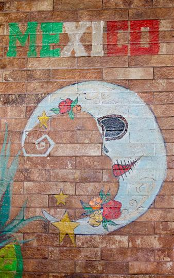 Graffiti on the wall of a moon