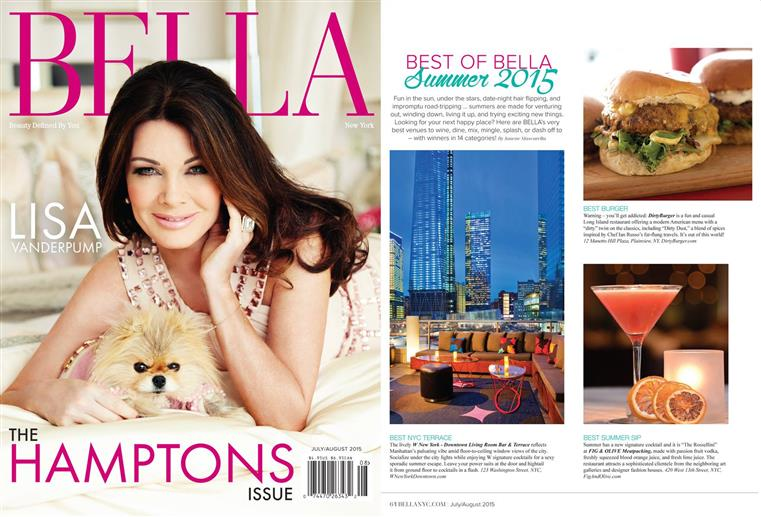 "Dirty Burger featured in Bella Magazine ""Best of Bella Summer 2015"""