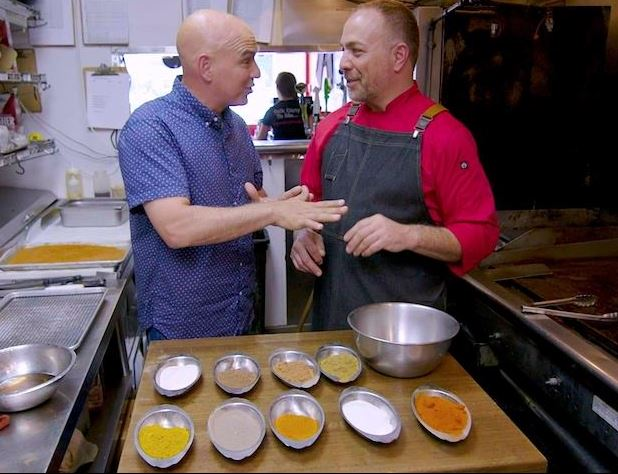 Chef Ian w/ Michael D. Symon on The Cooking Channel