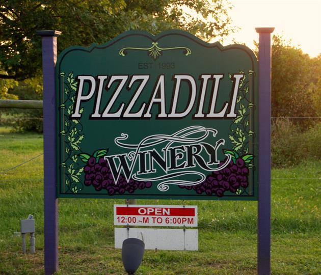 The outdoor sign of the winery