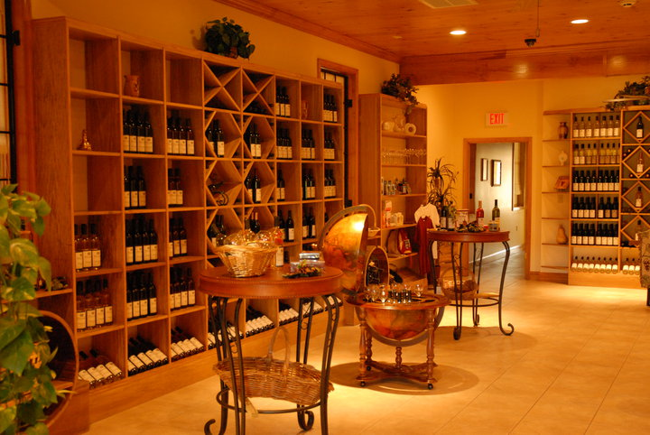 Interior shot of the winery