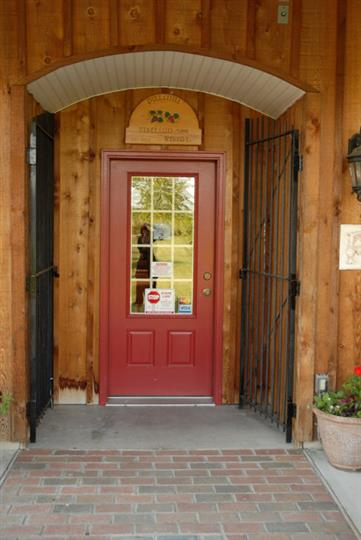 Outdoor shot of the winery front door