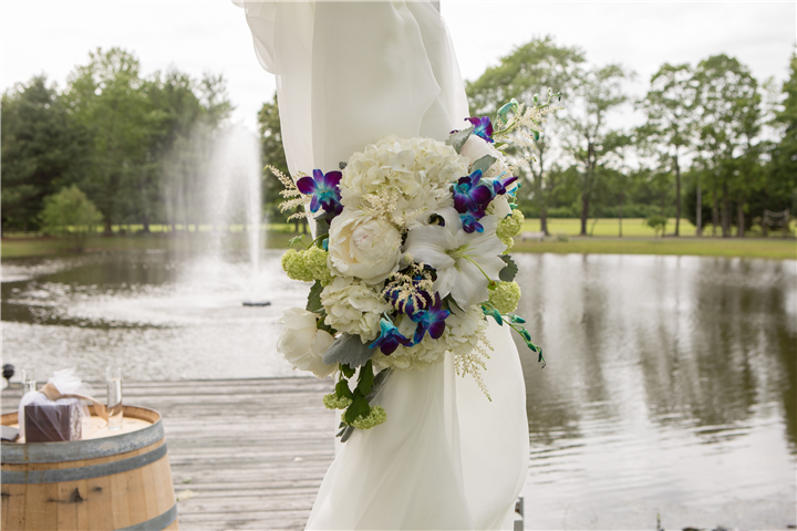 Wedding decoration in front of the lake
