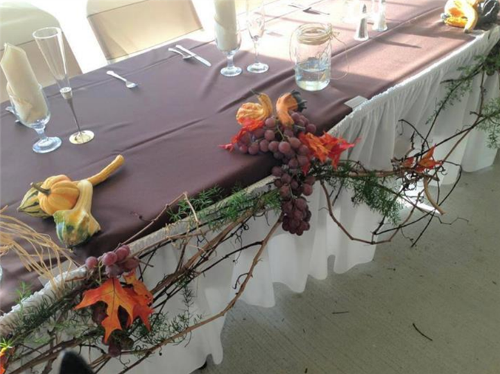 Decoration of the tables with flowers