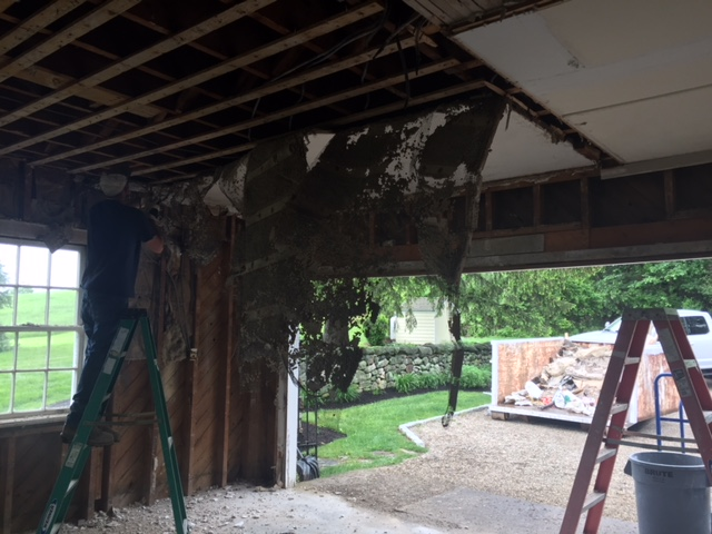 ceiling being torn down