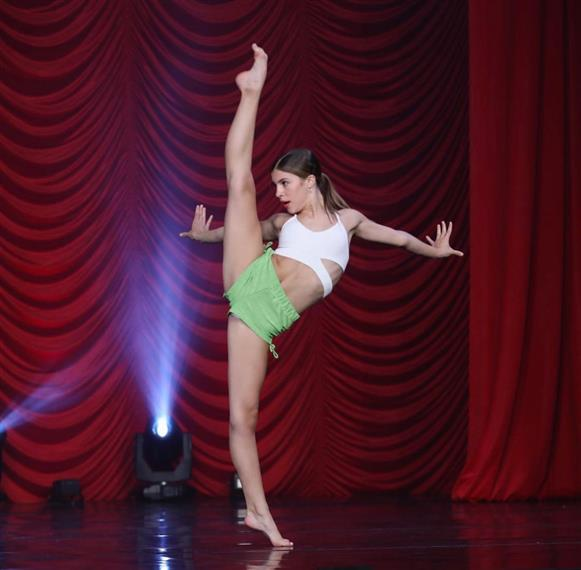 a single dancer on stage