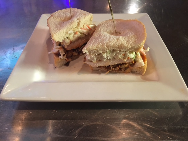 Turkey Rachael Smoked turkey breast thinly sliced with creamy coleslaw, Thousand Island and Swiss on lightly grilled Mancini's Rye Bread.