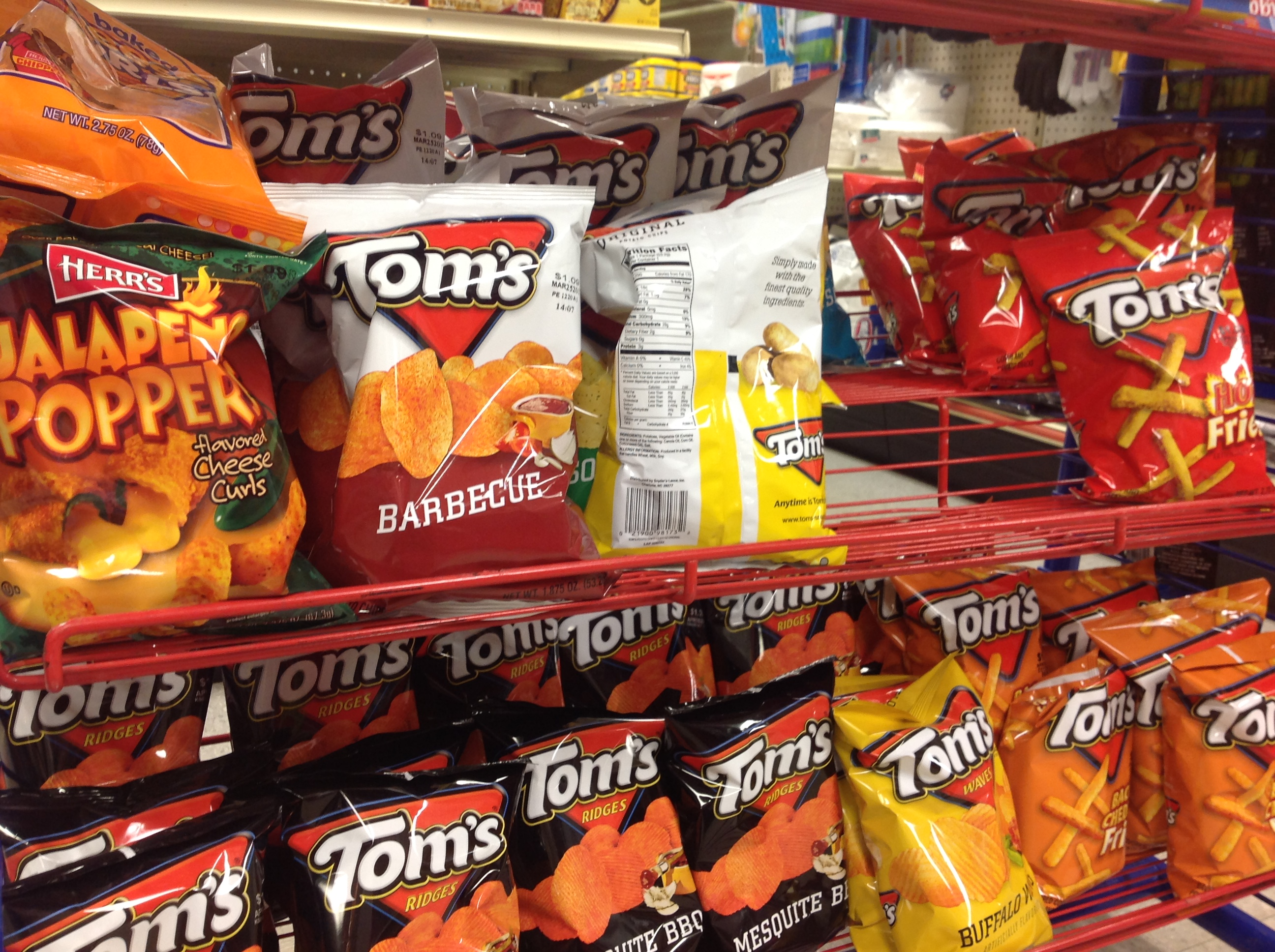 Get yourself  some Tom's chips today!