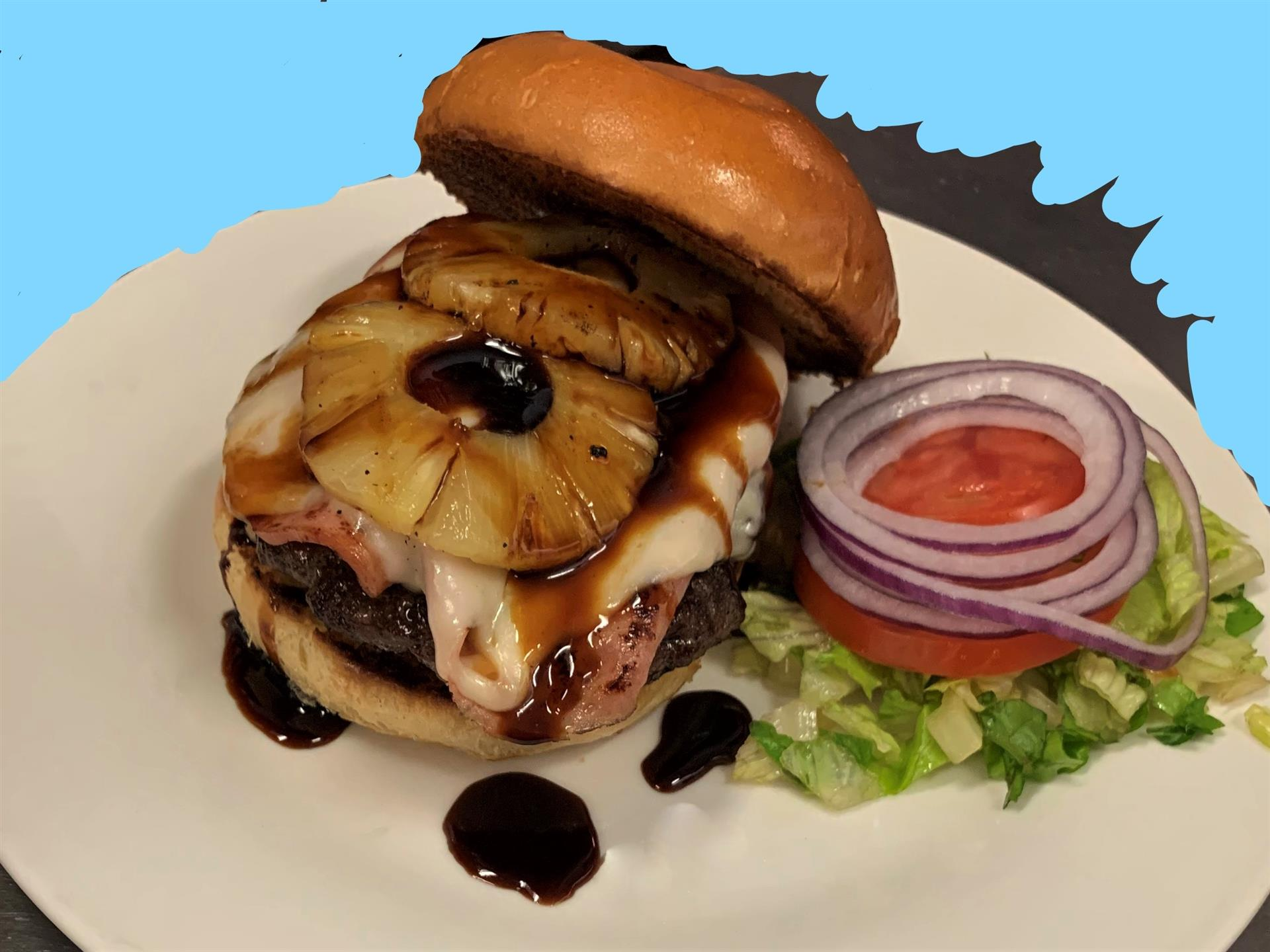 Once in a Blue Moon Burger NFL special