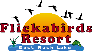 Flickabirds Resort. East rush lake