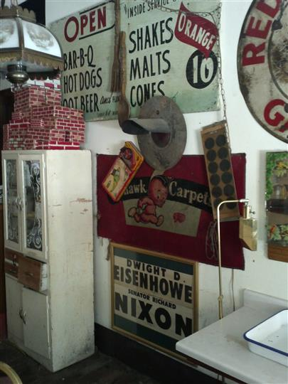 Old Signs for Carpet Store and Eisenhower v. Nixon Poster