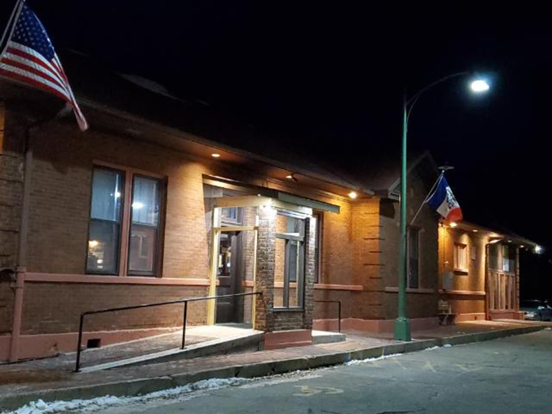 Outside of Depot at night