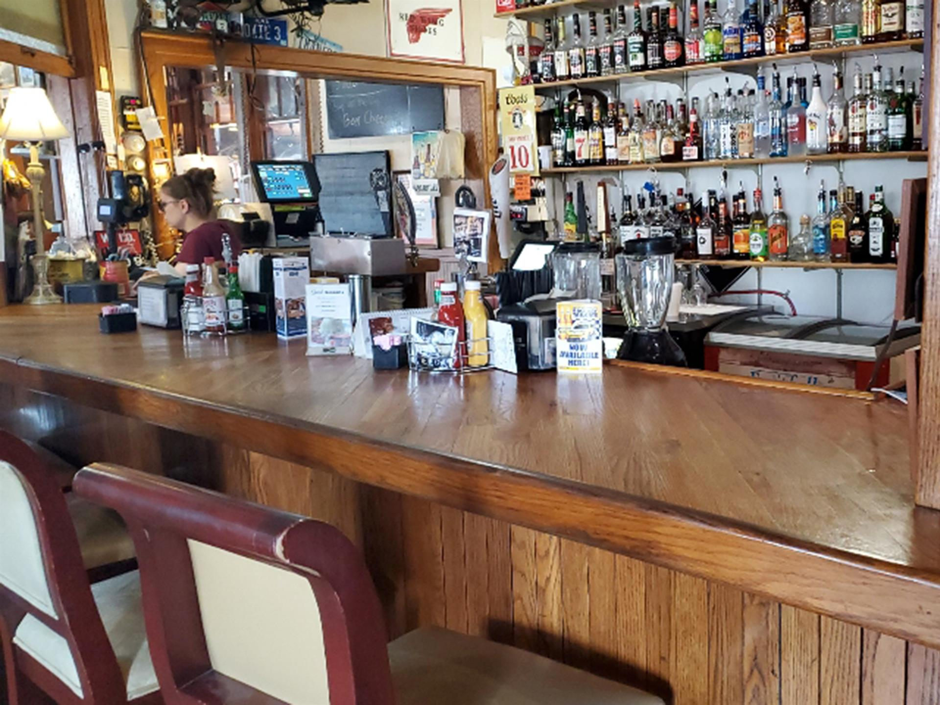 Inside bar at Depot