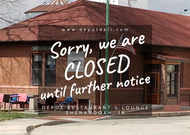 Sorry, we are closed until further notice.