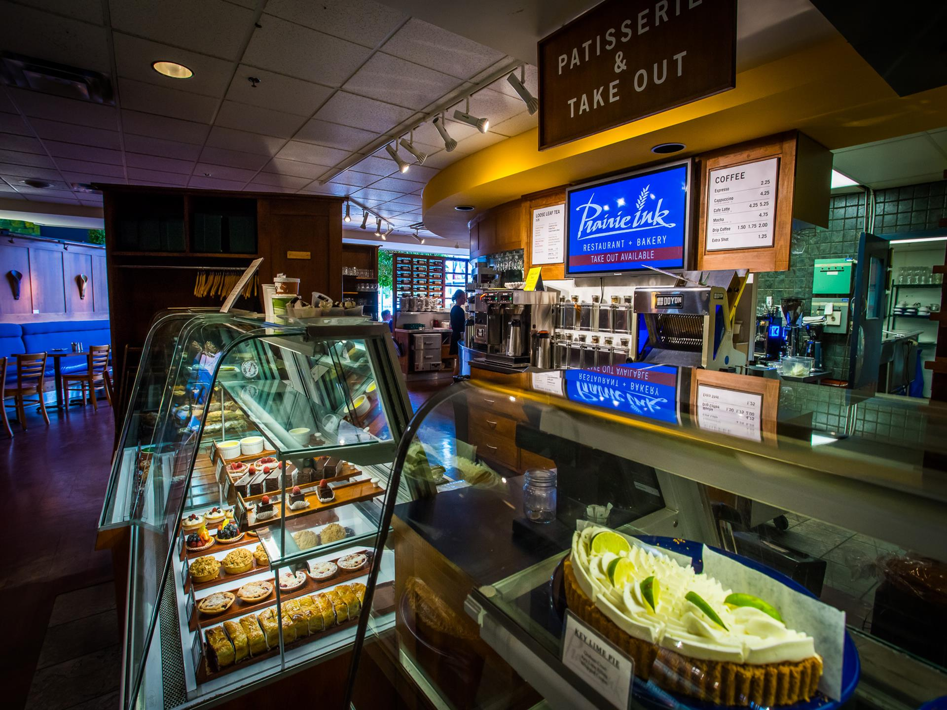 Interior shot of the pastry store