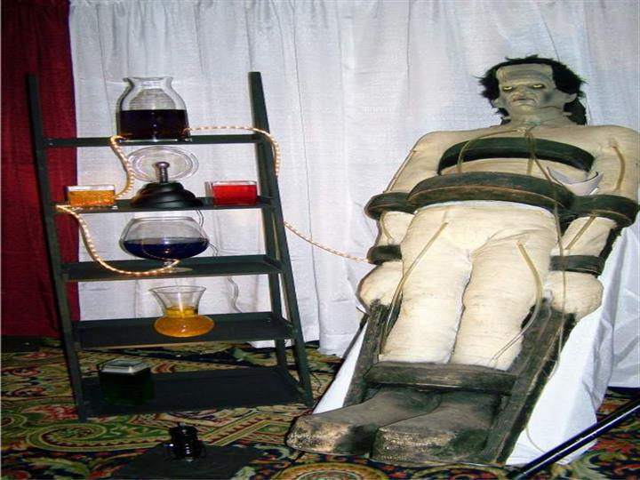 frankenstein being experimented on