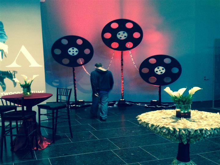 Hollywood decor with film wheels