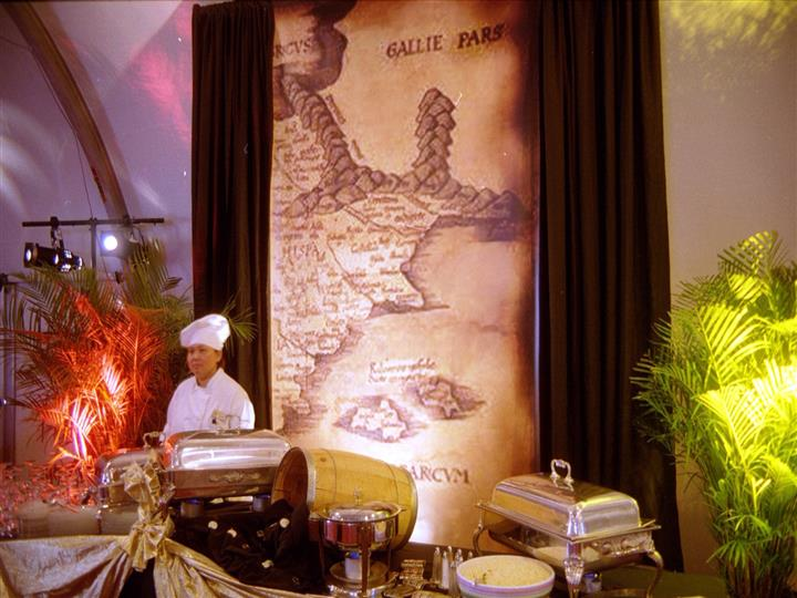 catering event with a treasure map.