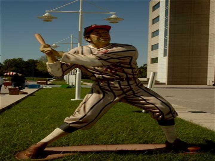 lifesized baseball figurine