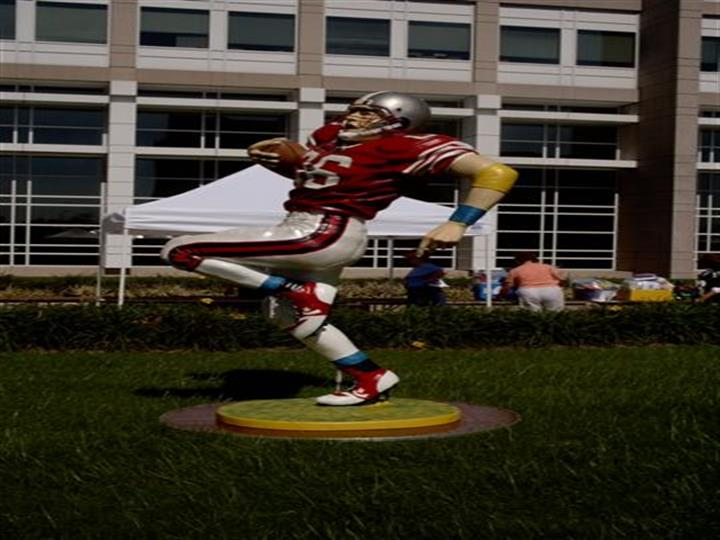 lifesized football figurine
