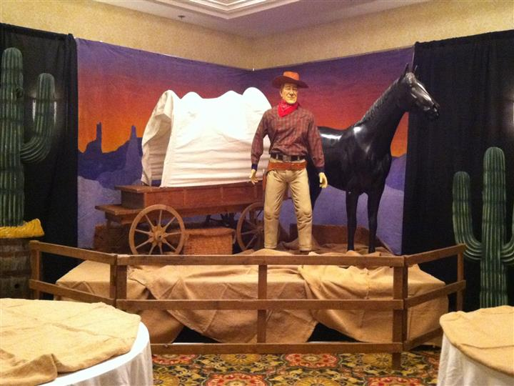 lifesize cowboy and horse figure
