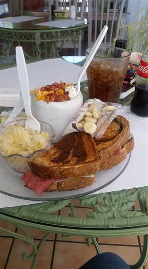 Grilled Sandwich with sides