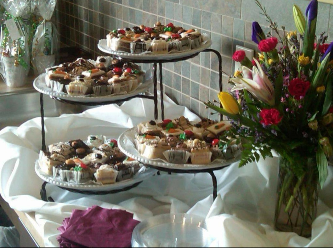 various desserts set up for an event