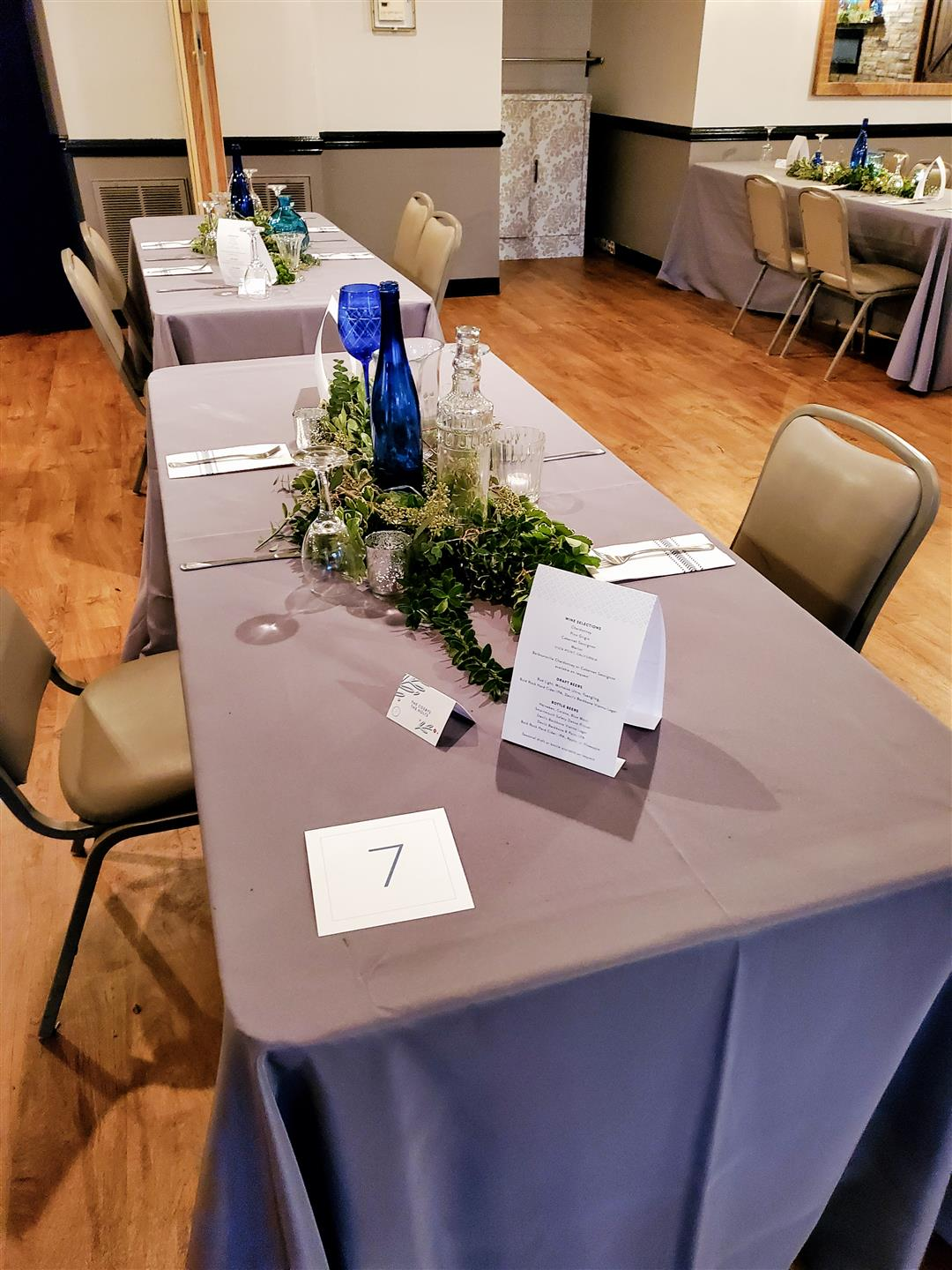 table set up for a corporate event