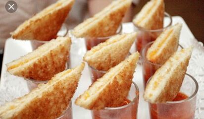 mini grilled cheese in soups